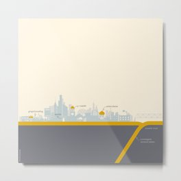 "City on a ""Plate"" Metal Print"