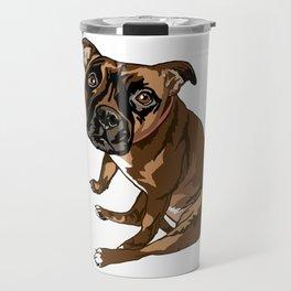 Avery the Boxer Pug Cross Travel Mug
