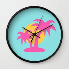 Summer Palm Tree Wall Clock