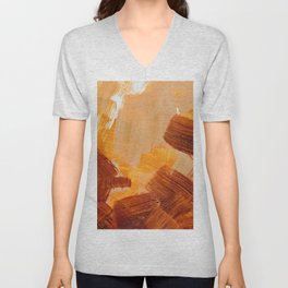 Golden Braun Painted Texture Unisex V-Neck