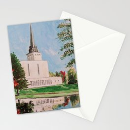 London England LDS Temple Painting Stationery Cards
