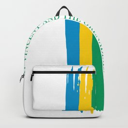 saint vincent and the grenadines Stripe Country Colors Backpack