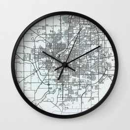 Rockford, IL, USA, White, City, Map Wall Clock