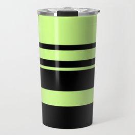 Fluorescent Green neon stripes horizontal Travel Mug
