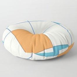 Mid-Century Modern Art 2.5 Floor Pillow