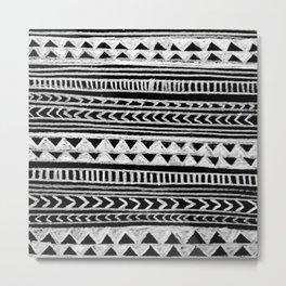 Triangle and Herring Bone Pattern Metal Print