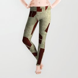 Letters collage Leggings