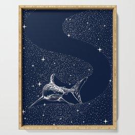 Starry Shark Serving Tray