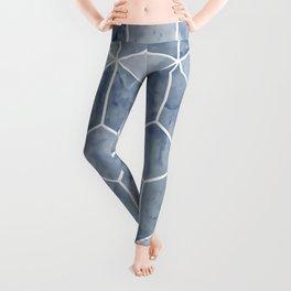 Geometric, Mable, Stone, Pattern, Blue Leggings