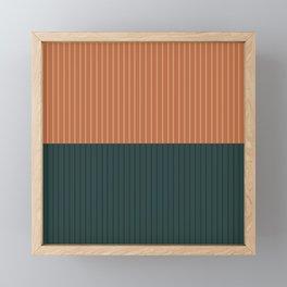 Color Block Lines XIX Framed Mini Art Print