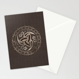 Odin's Horn  - Brown Leather and gold Stationery Cards