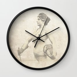 Vintage Woman Portrait - Early 1900's Jouist Female - Antique Woman Print Sepia Wall Clock