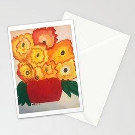 Orangeyellowflorals Stationery Cards