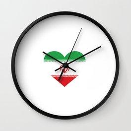 Iran  love flag heart designs  Wall Clock