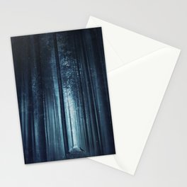 worse dream - spooky forest scenery with bird Stationery Cards
