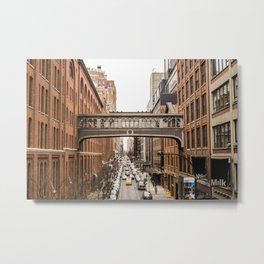 High lane Park New York | USA Manhattan Bridge Photo Print | Brick - travel - photography - Art print Metal Print