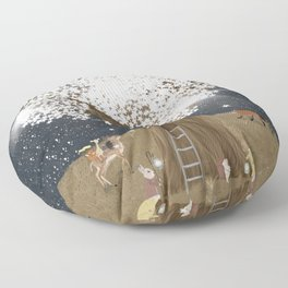 the starlight tree Floor Pillow