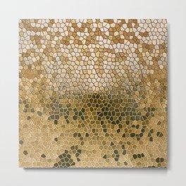 Geometric Golden Design Pattern Abstract  Metal Print