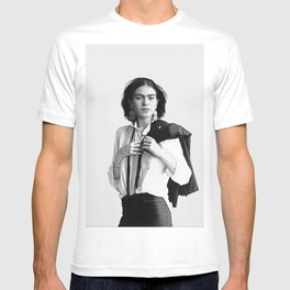 Frida Kahlo Wearing White Shirt T-shirt