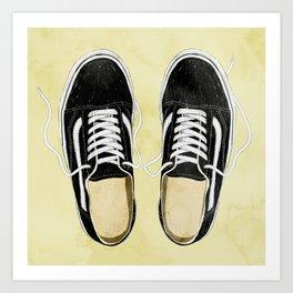 boy's sneakers stayhome Art Print