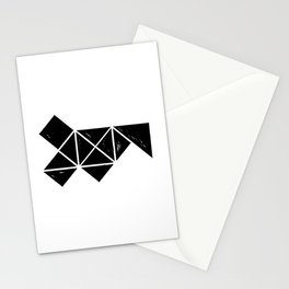 Hand Made Squares, Triangles with Ink on Paper Stationery Cards