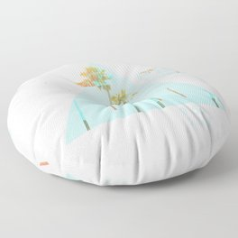GLITCH NATURE #65: Santa Monica Floor Pillow