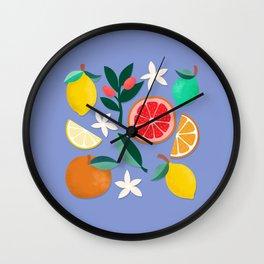 Citrus Cluster Wall Clock