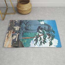 The Great Buddha At Kamakura - Vintage Japanese Woodblock Print Art Rug