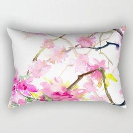 Cherry Blossom, Sakura, Japanese Floral art Rectangular Pillow