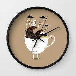 Brainstorming Coffee Wall Clock