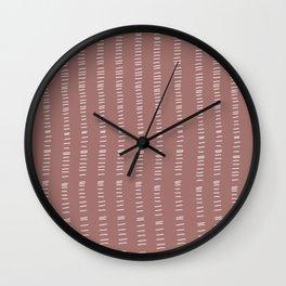 mauve succulent lines Wall Clock