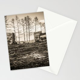 Poltery Site (Wood Storage Area) After Storm Victoria Möhne Forest sepia Stationery Cards