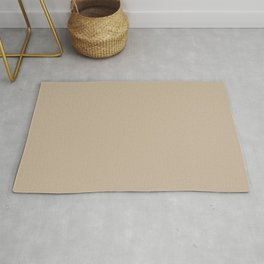 Sand Dust Tan Solid Color Pairs To PPG 2021 Trending Hue Best Beige PPG1085-4 Rug