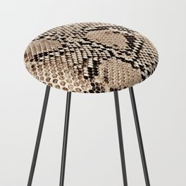 Snake skin art print Counter Stool