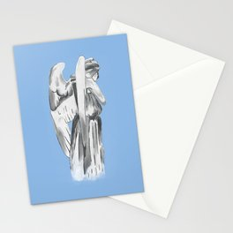 Weeping angel - Doctor Who - blue Stationery Cards