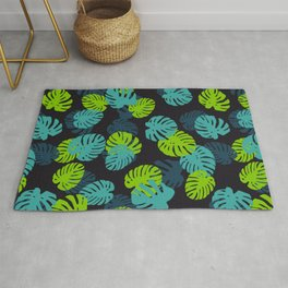 Ever Green Lady Plant Tropical Jungle Green Palette Rug
