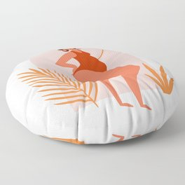 Happy curvy woman, body positive Floor Pillow
