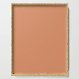 COOPER TAN solid color Serving Tray