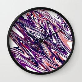 angled waves Wall Clock