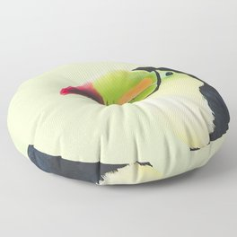 Toucan Do It! - lime Floor Pillow