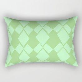 Geometric Diamonds Design (Mint Green) Rectangular Pillow