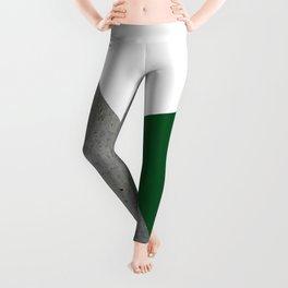 Concrete Festive Green White Leggings