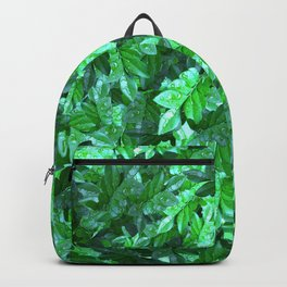 Dew foliage pattern Backpack