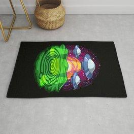 Alien Abduction Crop Circles Rug