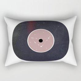 Vinyl Record Star Sign Art | Capricorn Rectangular Pillow