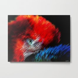 Bruce Hated Puppies - Scarlet Macaw Painting by Jeanpaul Ferro Metal Print