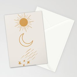 Sun, Moon and Stars #society6 #buyart Stationery Cards