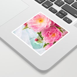 Vibrant Bouquet with filters Sticker