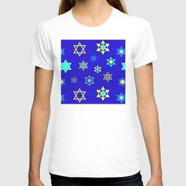 Bubbie's Star of David Pattern For Hanukkah T-shirt