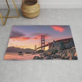 Sunset over the San Francisco Bridge (Color) Rug